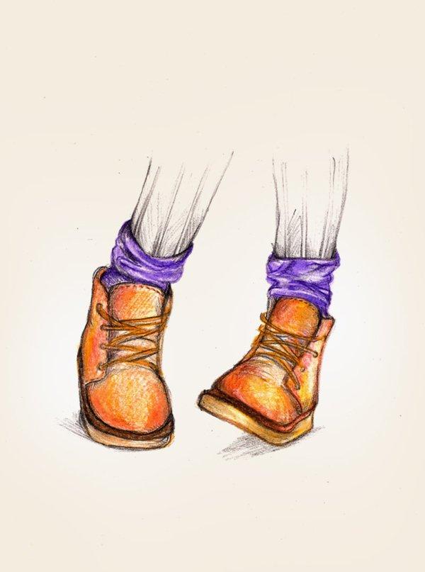 рисунок ноги: