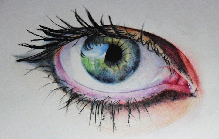 цветные рисунки девушек: