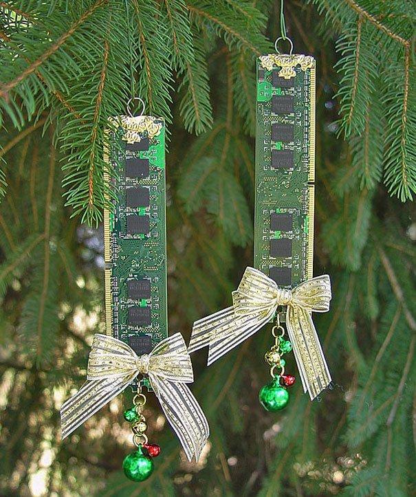 Самодельное украшение елки