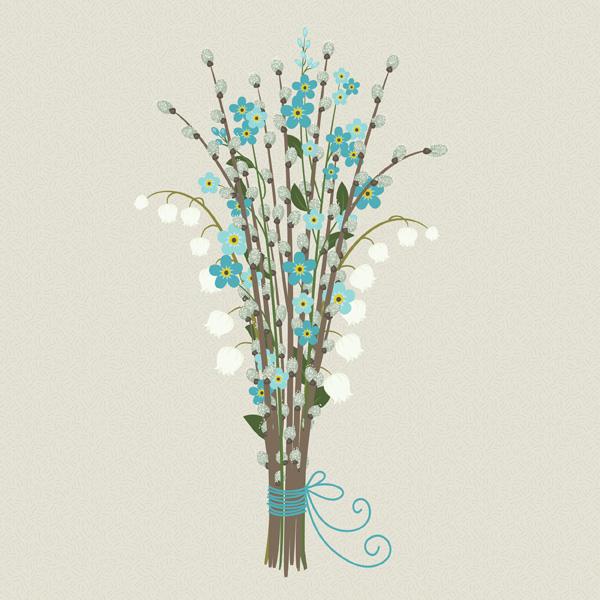 Как нарисовать весенний букет в Adobe Illustrator