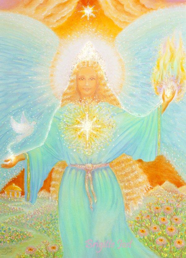 Рисунок ангелы мира, анимационные крещением