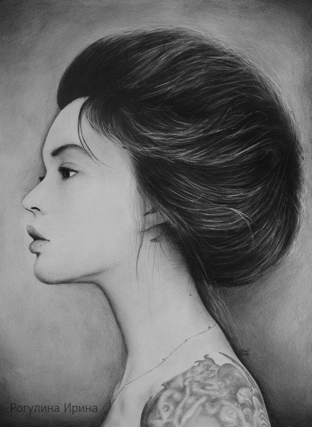 Девушки профиль рисунок