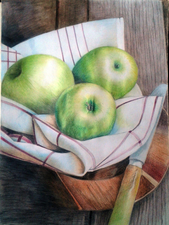 Картинки натюрморт карандашом цветным
