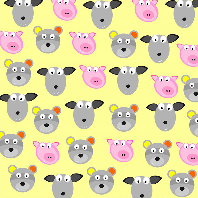 animals on a yellow background,vector illustration