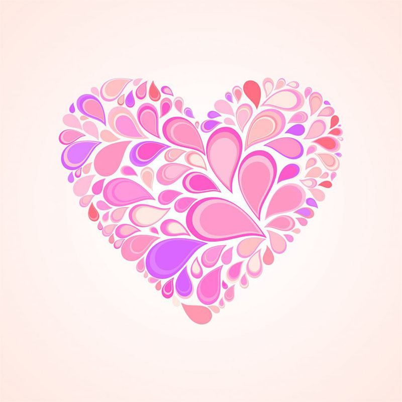 abstract heart pink color,vector illustration