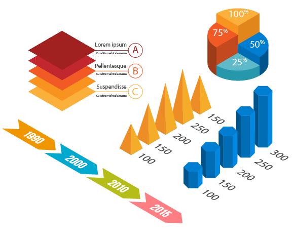 Как изобразить трехмерную инфографику